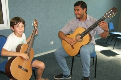 Mathieu en duo avec son professeur Carlos